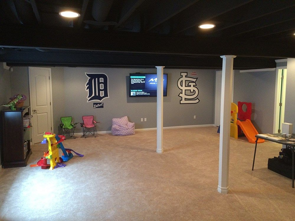 Basement Remodel With Kids Playroom Resource Remodeling