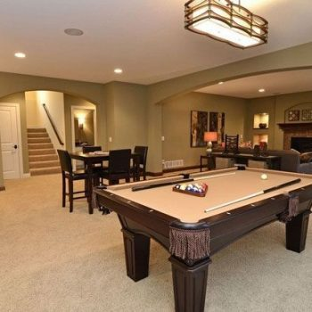 Pool setup in basement after remodeling