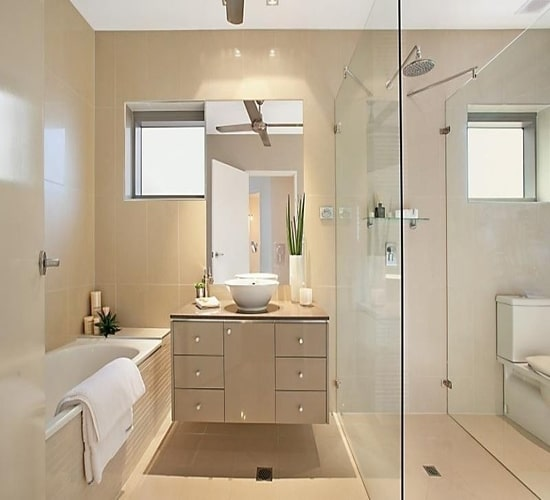 modern layout bathroom design