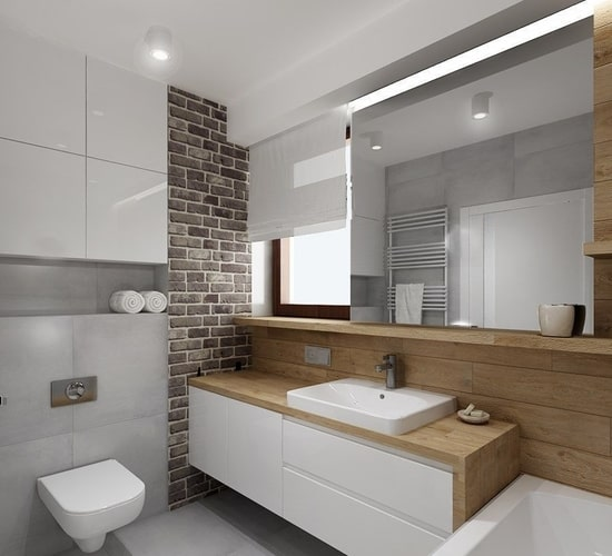 modern design finished bathroom project